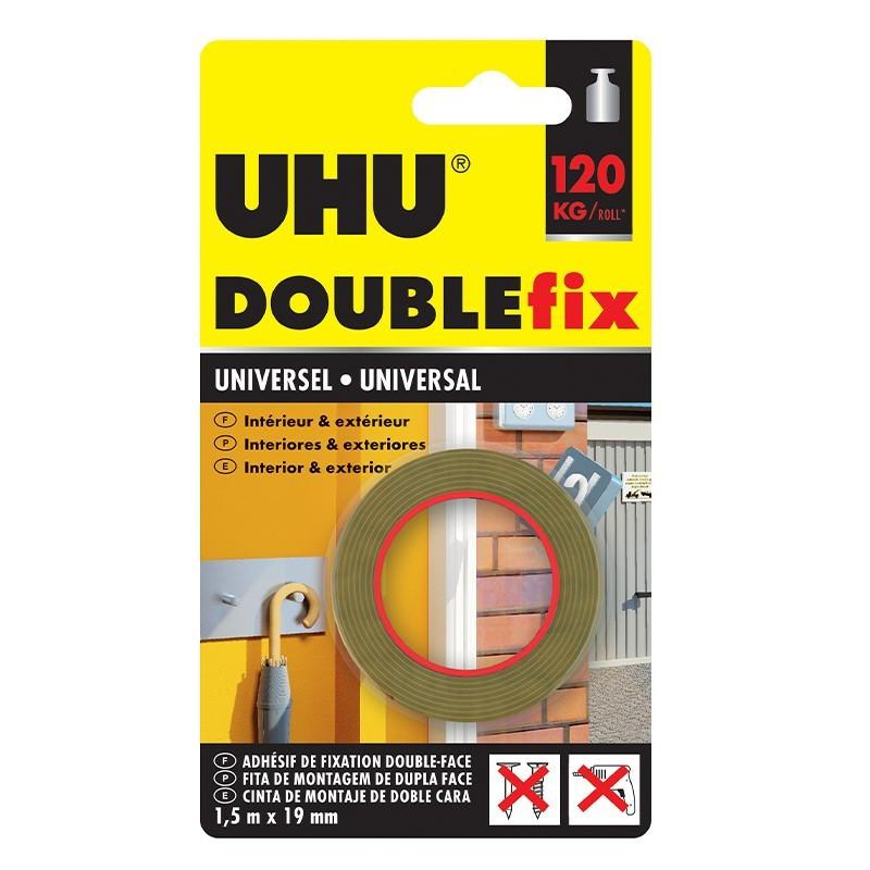 DoubleFix interior white - 1,50 m x 19 mm - UHU