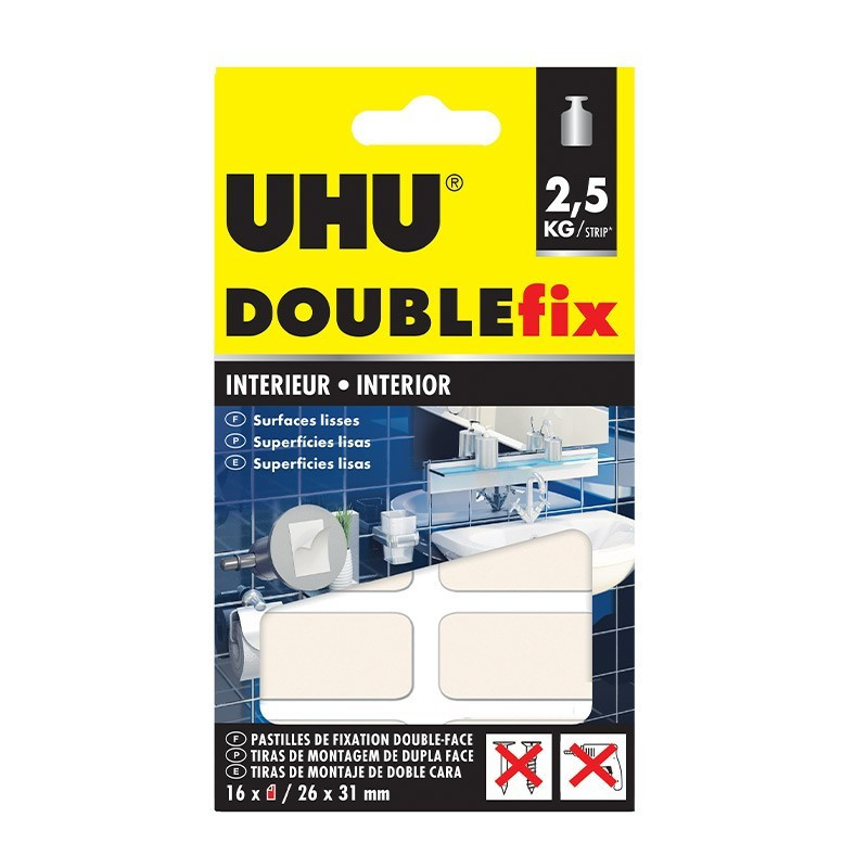 DoubleFix Inner white - 16 pads 26 x 31 mm - UHU