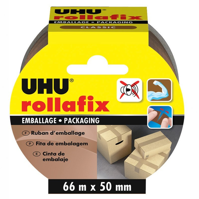 Rollafix Packaging Brown - 66 m x 50 mm - UHU