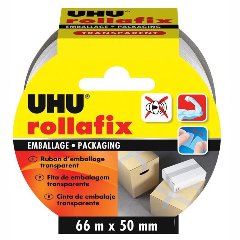 Rollafix Transparent Packaging - 66 m x 50 mm - UHU