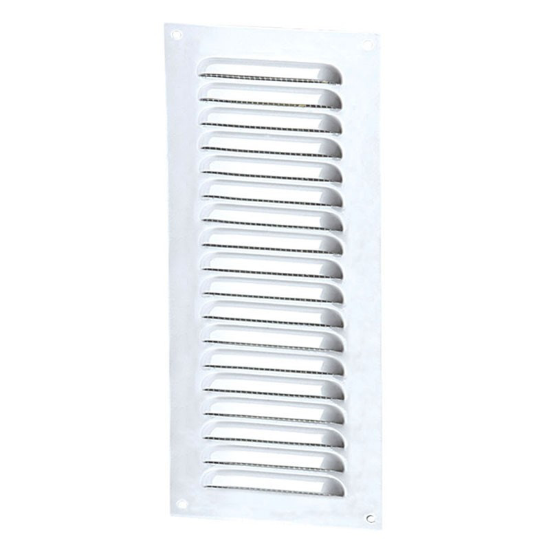 AERATION RECT 100X300MM WHITE ALUMINIUM + INSECT SCREEN