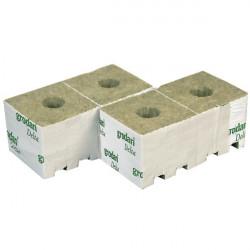 10 Cubes de laine de roche 10cm x 10cm x 6.5cm - Grodan