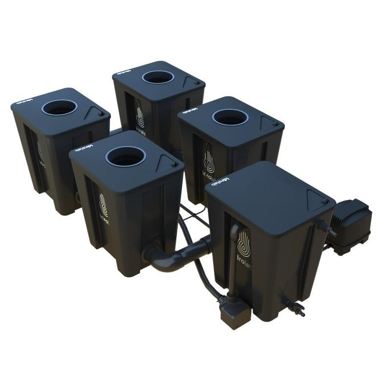 Original RDWC 2-row system 4+1 with Tuboflex diffuser - Idrolab