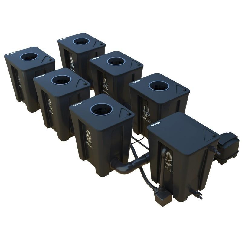 Original RDWC 2-row system 6+1 with Tuboflex diffuser - Idrolab
