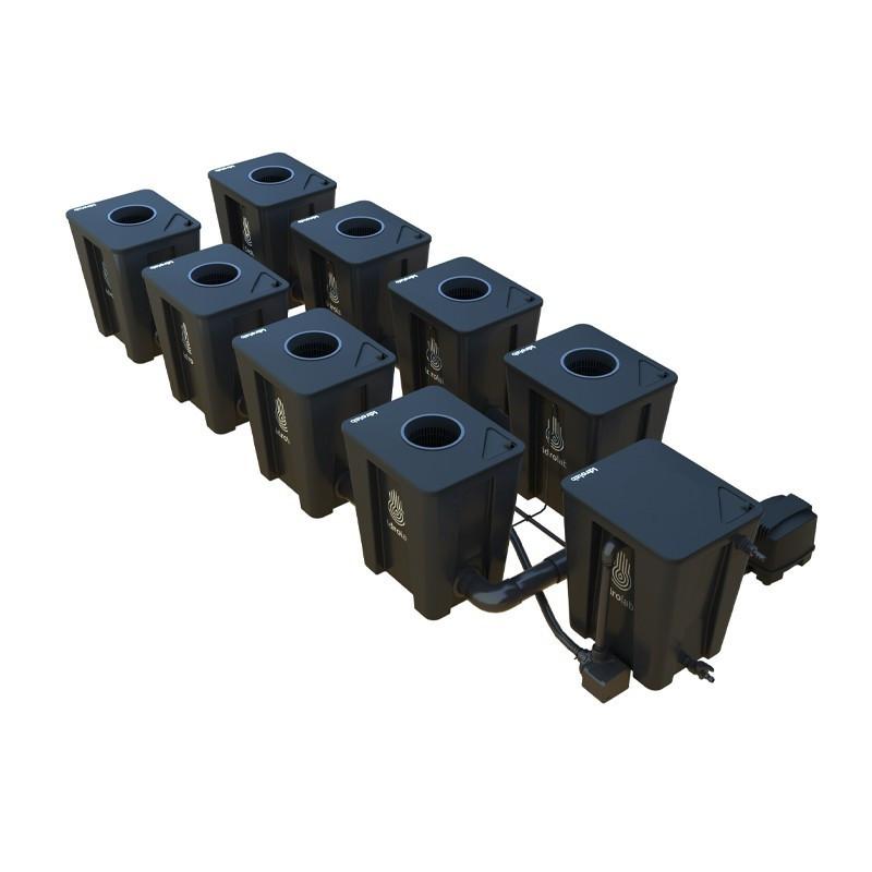 Original RDWC 2-row system 8+1 with Tuboflex diffuser - Idrolab