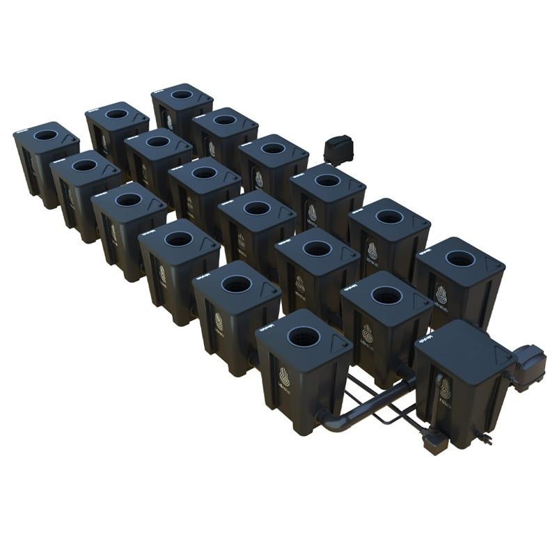 Original RDWC 3-row system 18+1 with Tuboflex diffuser - Idrolab