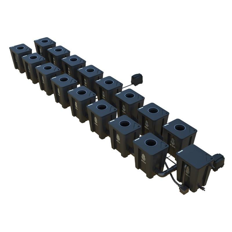Original RDWC 2-row system 16+1 with Tuboflex diffuser - Idrolab