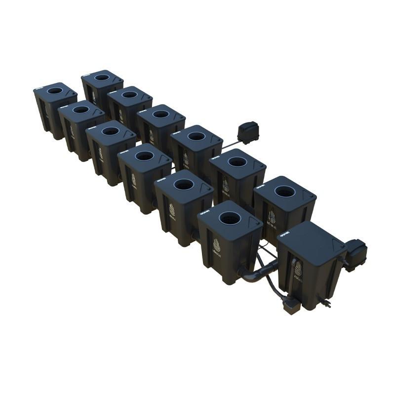 Original RDWC 2-row system 12+1 with Tuboflex diffuser - Idrolab