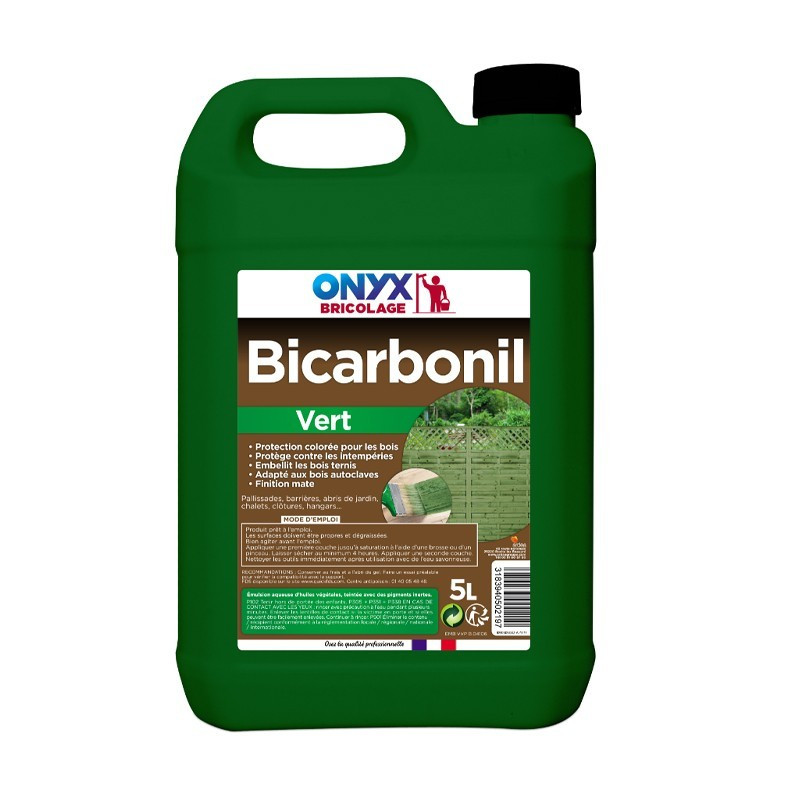 Onyx - Bibicarbonil green outdoor wood protection 5l
