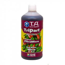 Fertilizer GHE TripartMicro fresh water 1L (Flora Micro)
