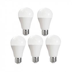 LOT OF 5 ADVANCED STAR LED light BULB A50 5W 2700K E27