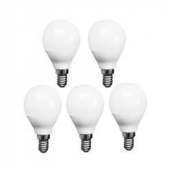 LOT OF 5 ADVANCED STAR LED light BULB A50 5W 6500K E14
