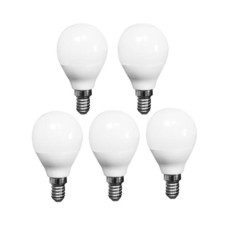 LOT OF 5 ADVANCED STAR LED light BULB A50 5W 2700K E14