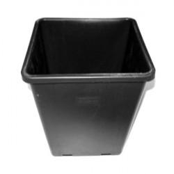 Nutriculture pot pot plastique noir premium carre 6l pour systemes wilma en 6l
