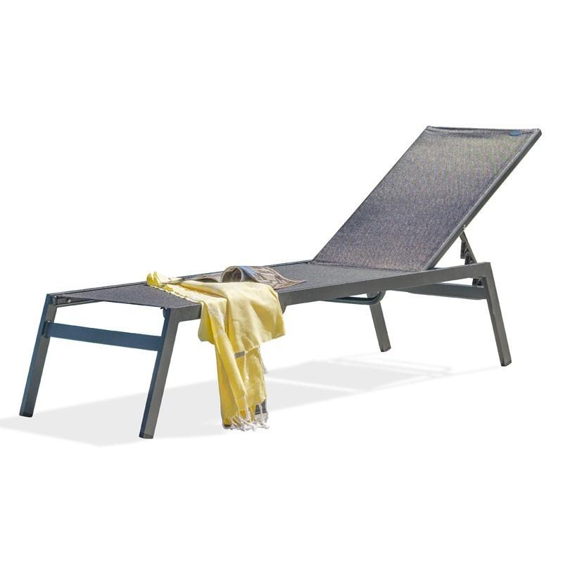 Lounge chair - Mayotte - Black - Textilene - DCB Garden