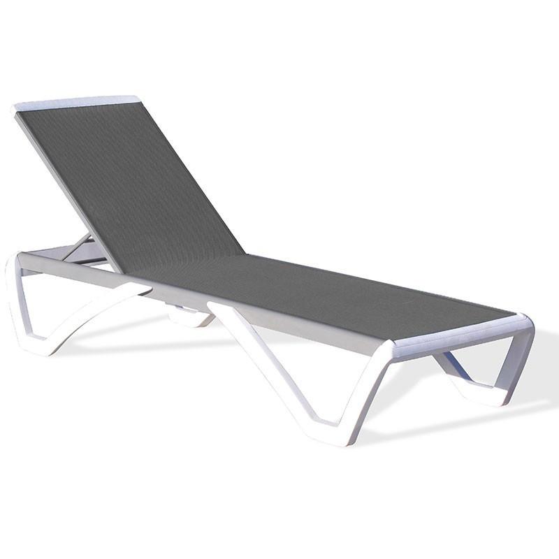 Lounge chair - Riga - Black/white- Textile - DCB Garden