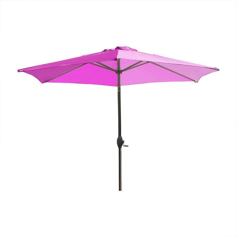 Crank umbrella - Marbella - 270 cm - Plum - DCB Garden