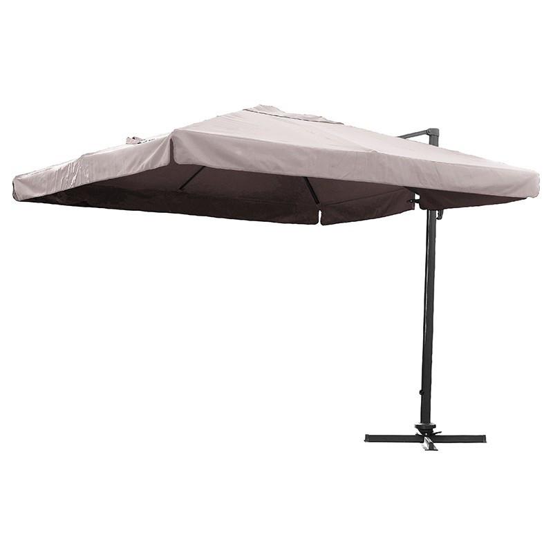 Offset umbrella - Almeria - 300 x 300 cm - Taupe - DCB Garden