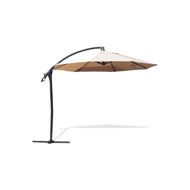 Offset umbrella - Malaga - Ø 300 cm - White - DCB Garden