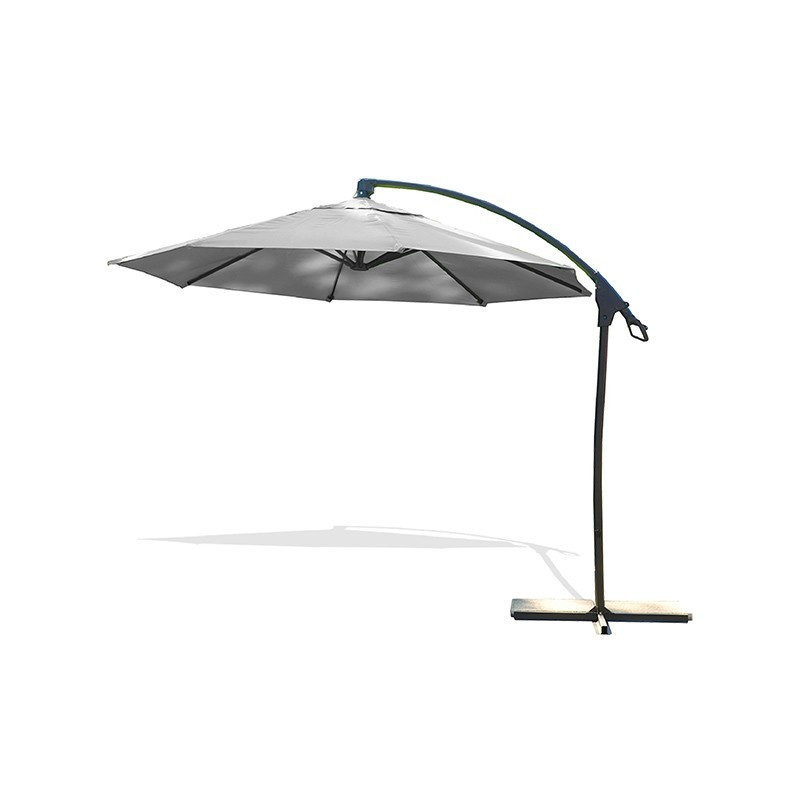 Offset umbrella - Malaga - Ø 300 cm - Grey - DCB Garden