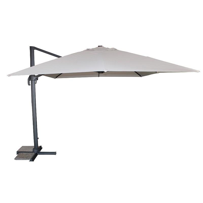 Offset umbrella - Sevilla - 400 x 300 cm - Grey - DCB Garden