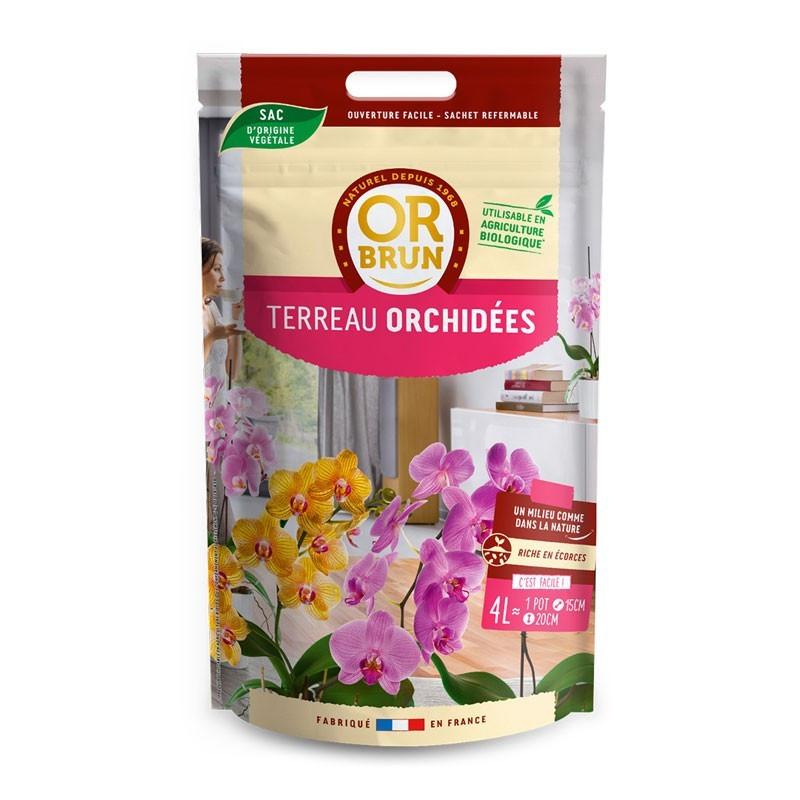 Substrat Terreau Orchidées 4 L - Or Brun