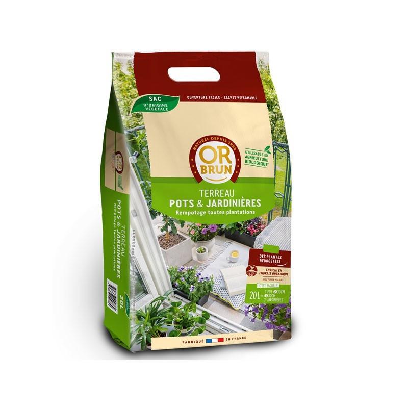 Universal potting soil Bio-Practical 20 L - Or brun