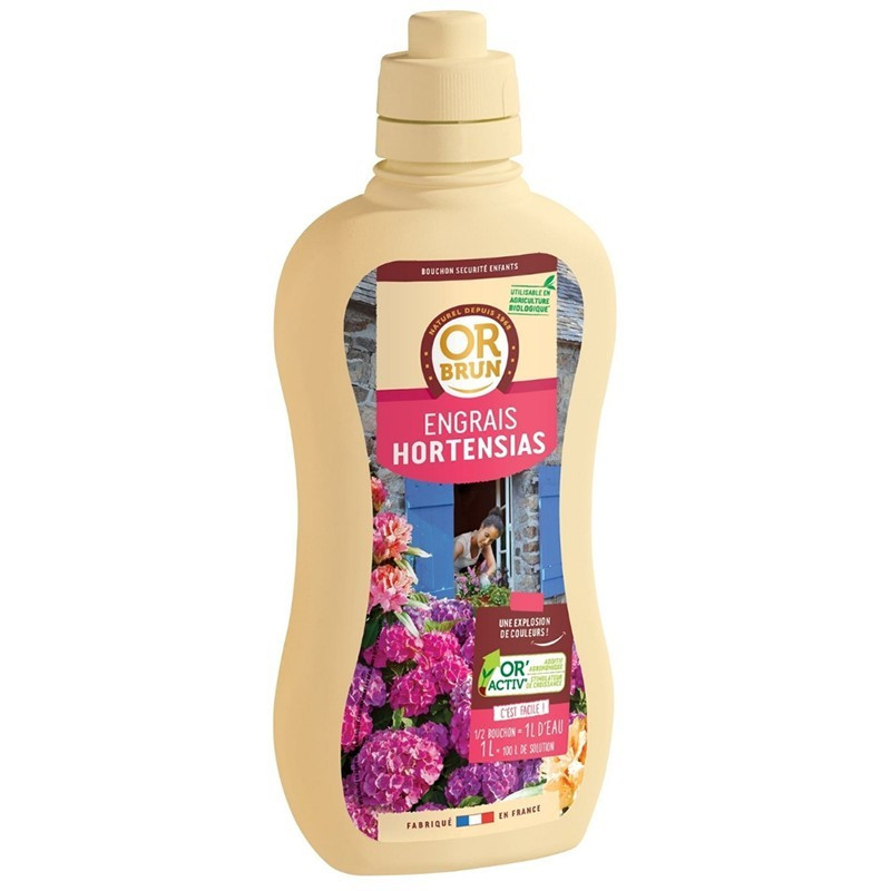 Liquid fertilizer - Hydrangeas 1L - Or brun