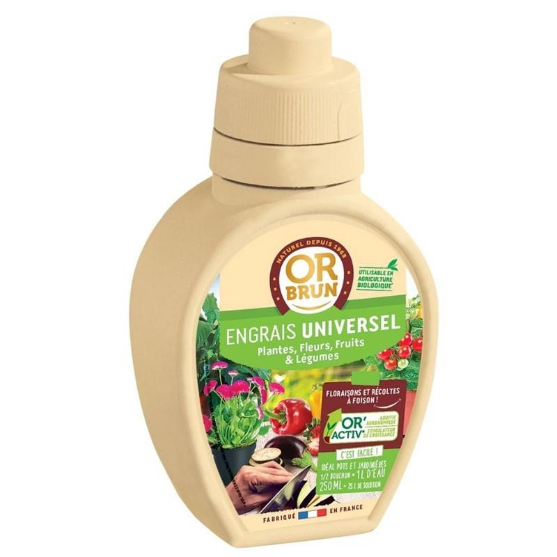 Universal Liquid Fertilizer 250ml - Or brun