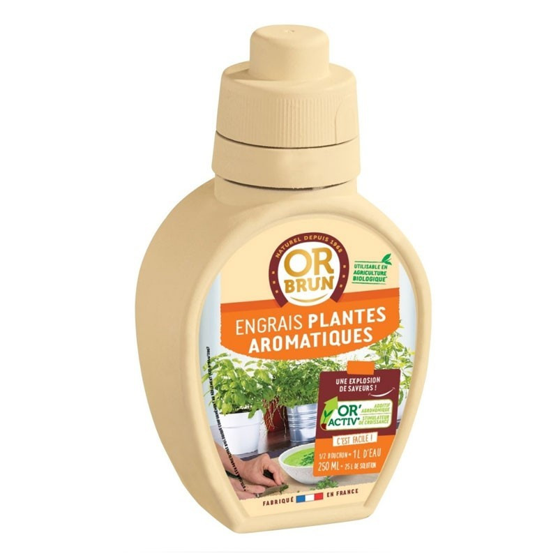 Liquid fertilizer Aromatic Plants 250ml - Or brun