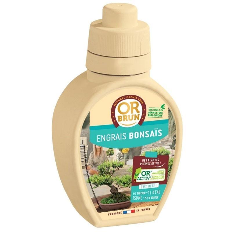 Bonsai Liquid Fertilizer 250ml - Or brun