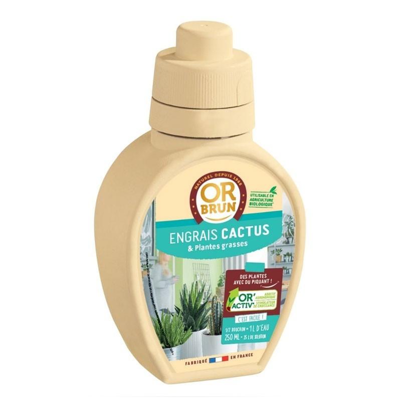 Cactus liquid fertilizer 250ml - Or brun
