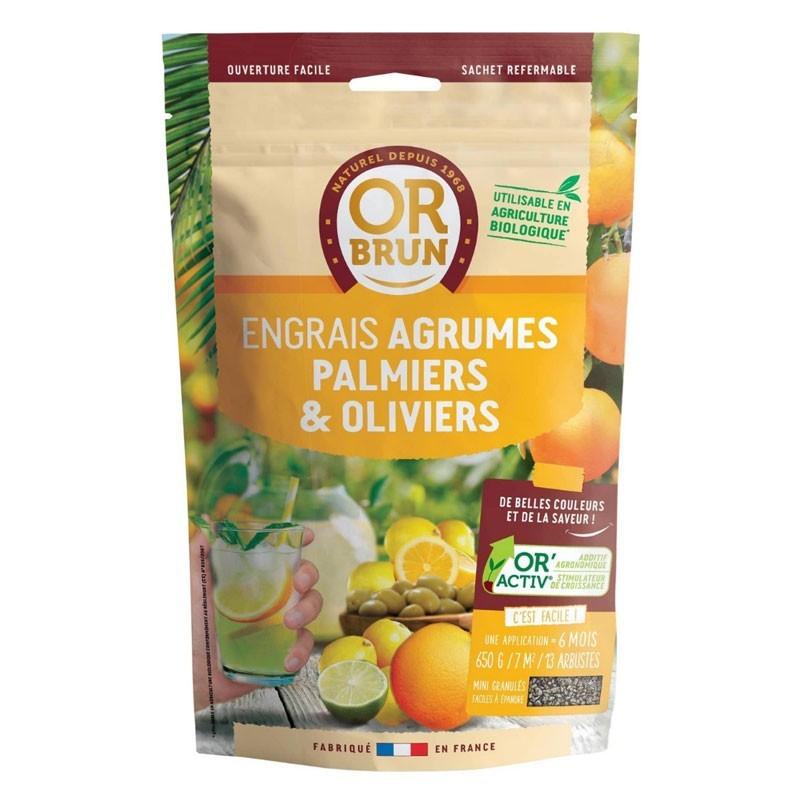 Citrus Fruits Palms and Olives Fertilizer 1Kg - Or Brun