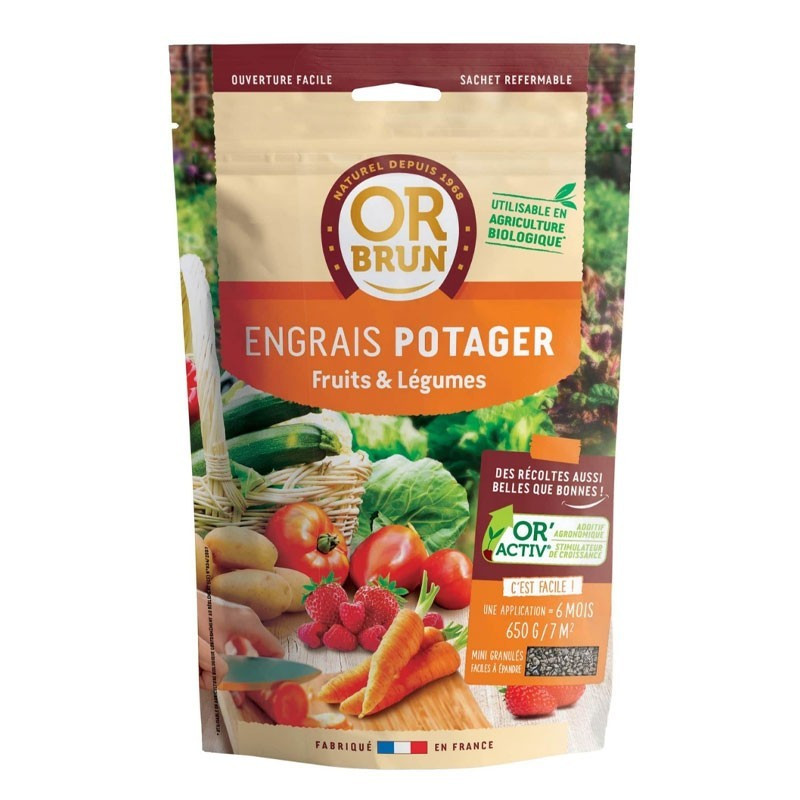 Vegetable Garden Fertilizer 650g - Or Brun