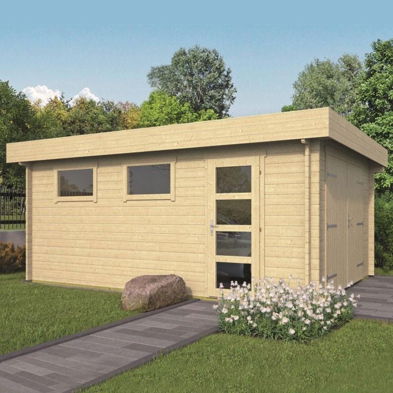 Gararge Marketta 360 x 537 cm in wood - Tuindeco