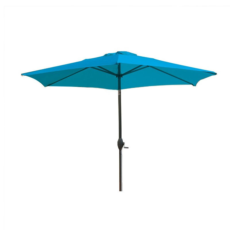 MARBELLA PARASOL 2M70 WITH TURQUOISE CRANK HANDLE