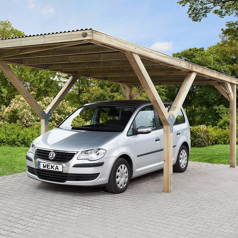 WEKA - Single Vehicle Y-shaped Garage Shelter 612 - PVC Roof - 6.06 x 3.06 x 2.03 m