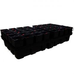 Système hydroponique - HydroStar Big pots 2 m² 12 pots 18 L 200 x 99 cm - Platinium Hydroponics