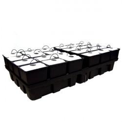 Système aéroponique - AeroPro 2 m² 24 pots 96 sites 200 x 99 x 38,5 cm - Platinium Aeroponics