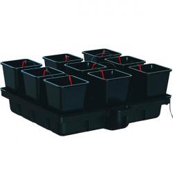 Système hydroponique - HydroStar 120 Big pots 9 pots 18 L 120 x 116 cm - Platinium Hydroponics