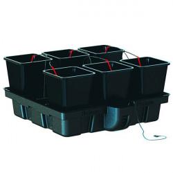 Hydroponic system - HydroStar 100 Big pots 6 pots 18 L 100 x 99 cm - Platinium Hydroponics