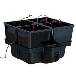 Système hydroponique - HydroPro 60 4 pots 60 x 60 x 38,5 cm - Platinium Hydroponics