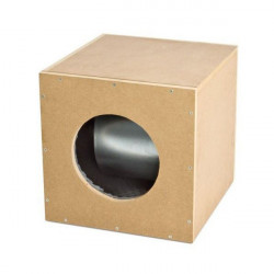Casing extractor air 5600m3 - 2 X 250mm / 1 X 315mm - 64x64x64cm - soundproof-Air ventilation Box One eco MDF-BOX