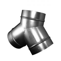 Y de dérivation Winflex ventilation en acier 100mm - Ventilation