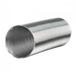 SHEATH aluminium SEMI-RIGID 125MM X 3 METRE -ventilation duct