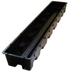 Bac Libra complet 100x16x9cm avec 2 pipes incules - pot hydroponique