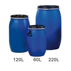 Réservoir 120L - Fut en plastique bleu PEHD