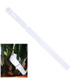 Lot de 10 étiquettes boucle PVC Blanc pour plantes 1,275x22cm