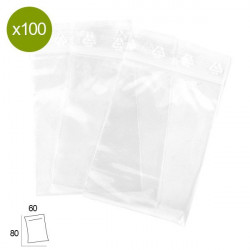 Box of 100 Pouches 60x80mm 50µ