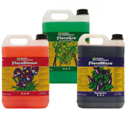 fertilizer Flora Series 5 litre grow - bloom - micro